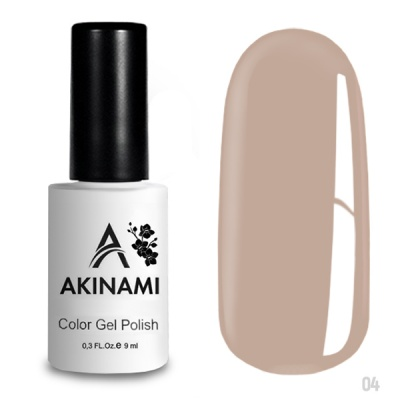 Akinami Color Gel Polish Pale Beige AСG004