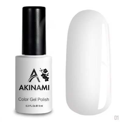 Akinami Color Gel Polish White AСG001